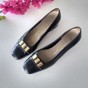 Vintage Salvatore Ferragamo Block Heel Loafer